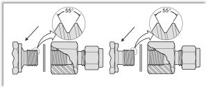 ISO 228/1 - parallelt rørgevind - BSPP